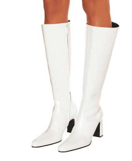 Drop Shipping 2019 Spring New Brand Woman Black White Grid Square Toe Rough Heels Knee High Zip High Heel Long Boots LadyDrop Shipping 2019 Spring New Brand Woman Black White Grid Square Toe Rough Heels Knee High Zip High Heel Long Boots Lady