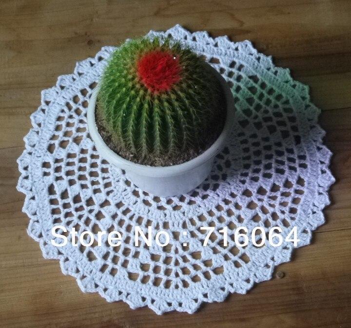 Handgefertigte Gehäkelte Deckchen runde muster Tischsets servietten ...