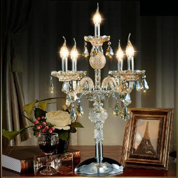 סלון מנורת led פמוטים מנורת מסעדת חדר שינה גדול led פמוט קריסטל פמוט זכוכית שולחן שולחן אור
