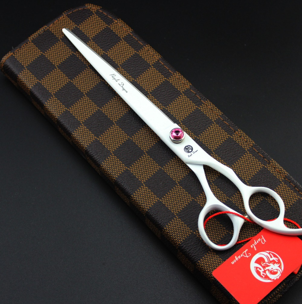 ФОТО 8 inch High Quality White JP440C Dog Grooming Scissors /Shear with Case