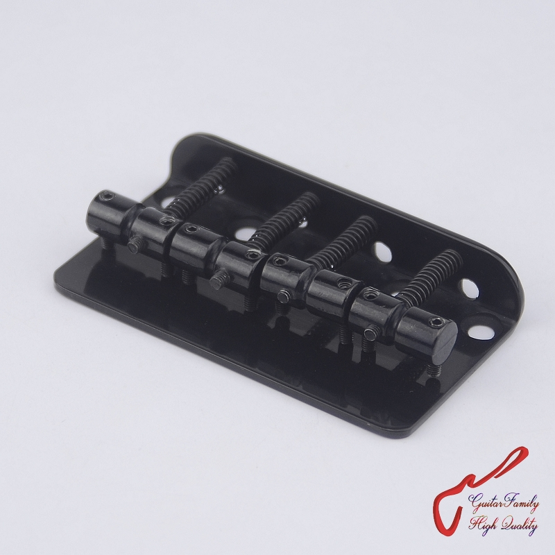 1 Set  GuitarFamily  4 Strings Electric Bass Bridge  For Precision Jazz Bass  Black  ( #1288 ) MADE IN KOREA купить