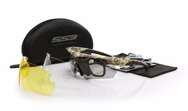 c12dc6753f 2017 ESS Crossbow Camouflage Military Goggle Shooting Sunglasses 3 Lens  UV400 Military Glasses Men Army Bullet-proof Eyewear