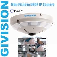 Fisheye mini security ip camera 960 p hd 1.3mp 360 gradi ampio Grandangolare notturna a infrarossi ir fish eye ip panarama macchina fotografica audio tf sd Carta