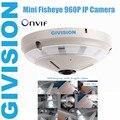 Fisheye mini security ip camera 960p hd 1.3mp 360 degree wide angle infrared ir fish eye ip Panarama camera audio tf sd card