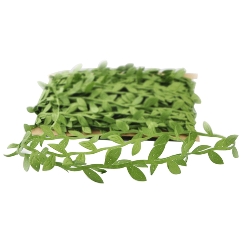 40m Simulation Leaves Green Vine Wreath Decorative Party Wedding Cloth Leafy Vines Leaves Home Garden Arts Crafts Sewing As Effectively As A Fairy Does Artificial Plants Artificial Decorations