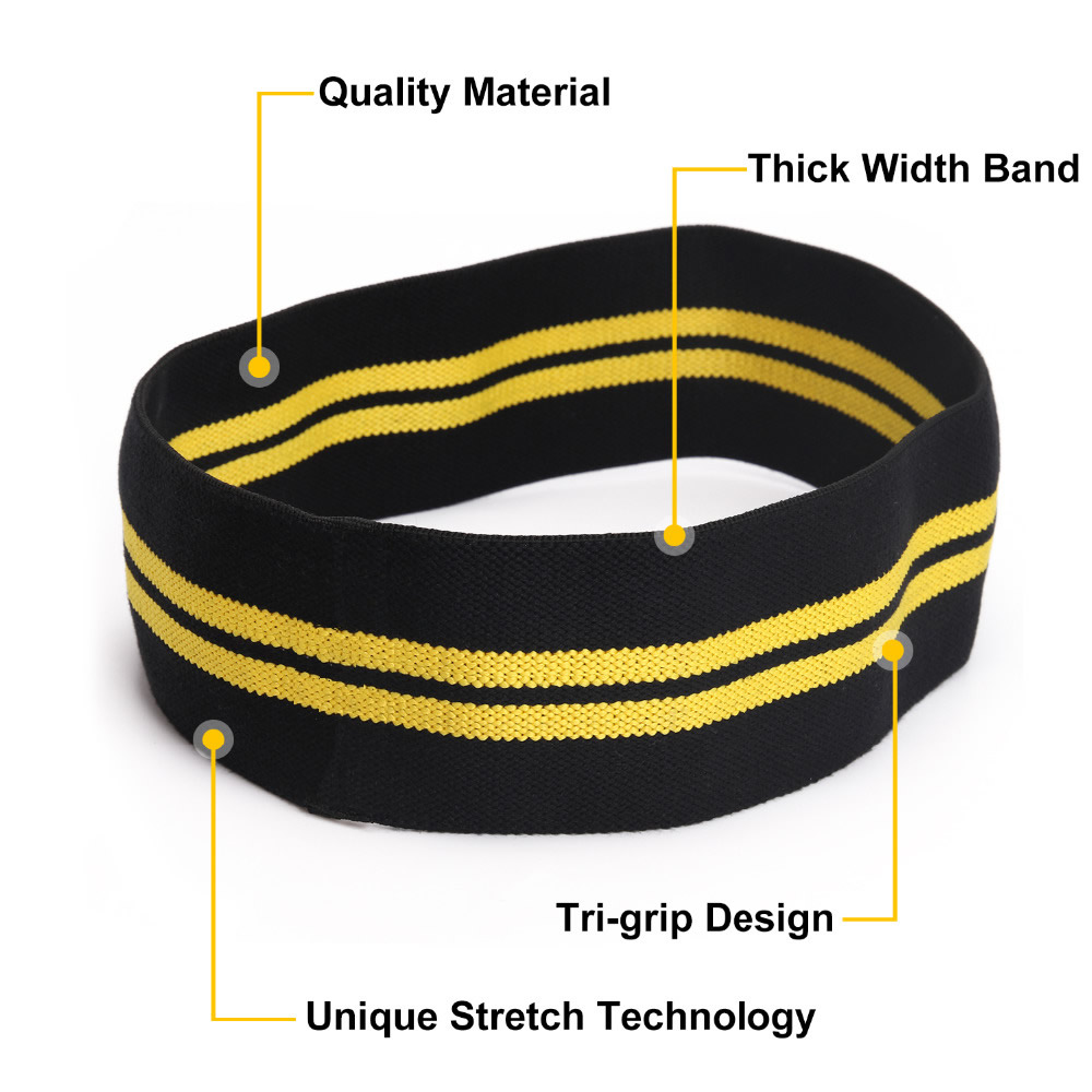 Nylon Hip Resistance Bands Workout Hips & Glutes Booty Fitness Exercise Elastic Bands Comfortable Than Latex Bands