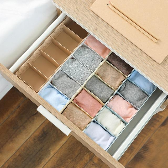 5 Grids Women Bra Underwear Socks Hollow Storage Boxes Wardrobe Closet Drawer Organizer For Scarfs Socks