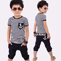 Spring Kids Clothes Sets Kids Pants + Top Boys Girls Navy Stripe Kids Clothes Children Casual Boys Clothing Set Tracksuit