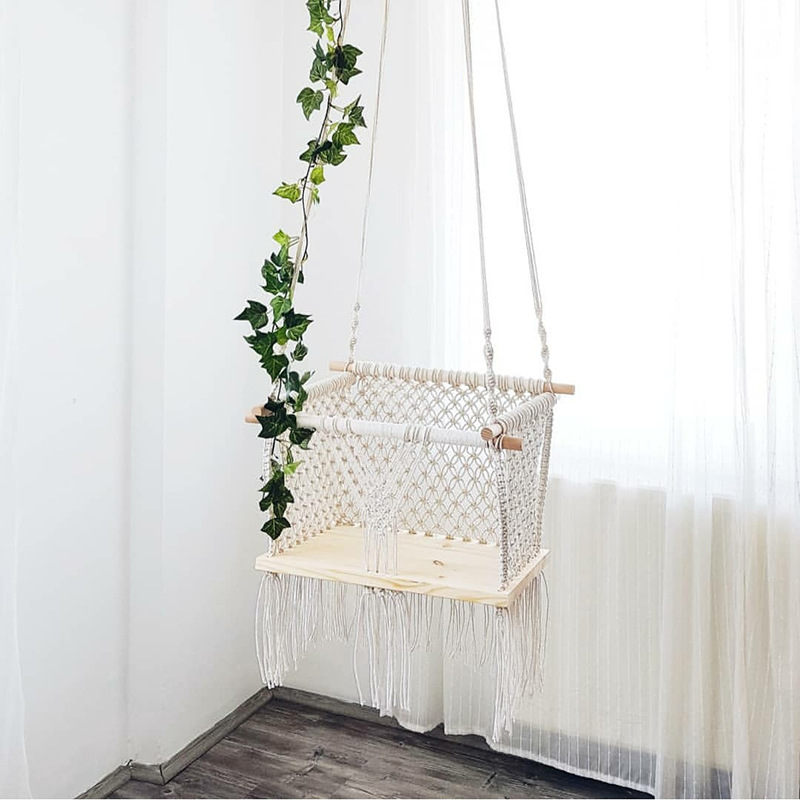 Nordic Baby Swing Rope Hammock Chair Children Hanging ...