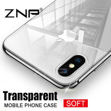 ZNP Ultra Thin Soft transparent TPU Case For Apple font b iPhone b font X 8
