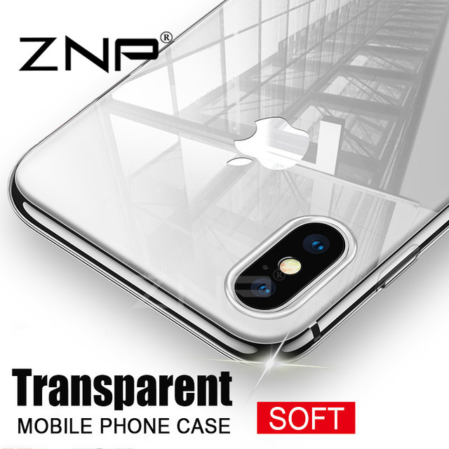 bd4fe5d606a ZNP Ultra Thin Soft transparent TPU Case For Apple iPhone X 8 8 Plus 7  silicone Case Cover For iPhone 6 6 7 Plus Phone Bag Case
