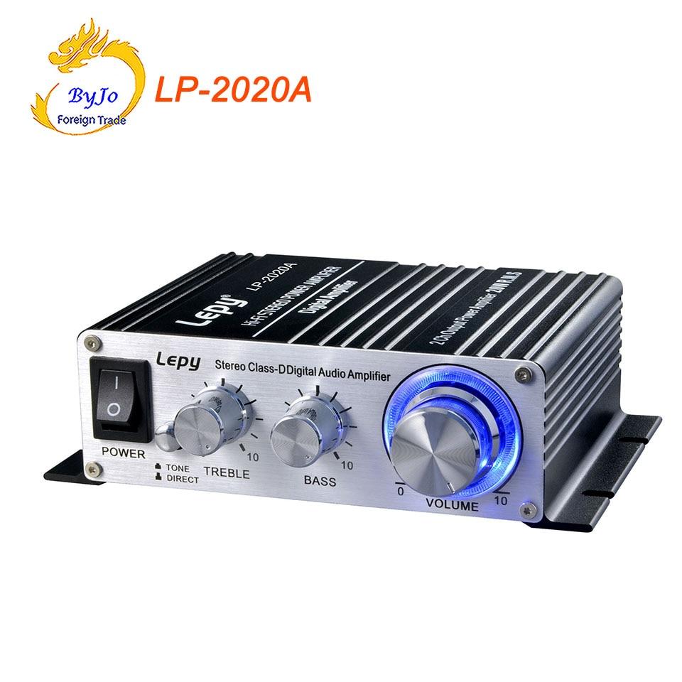 Lepy LP-2020A HiFi Digital Mini Audio Stereo Amplifiers 20Wx2 Home Car Amplifier+ Power Adapter