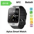 Gv18 reloj bluetooth con nfc reloj de la tarjeta sim para iphone android teléfono del reloj digital