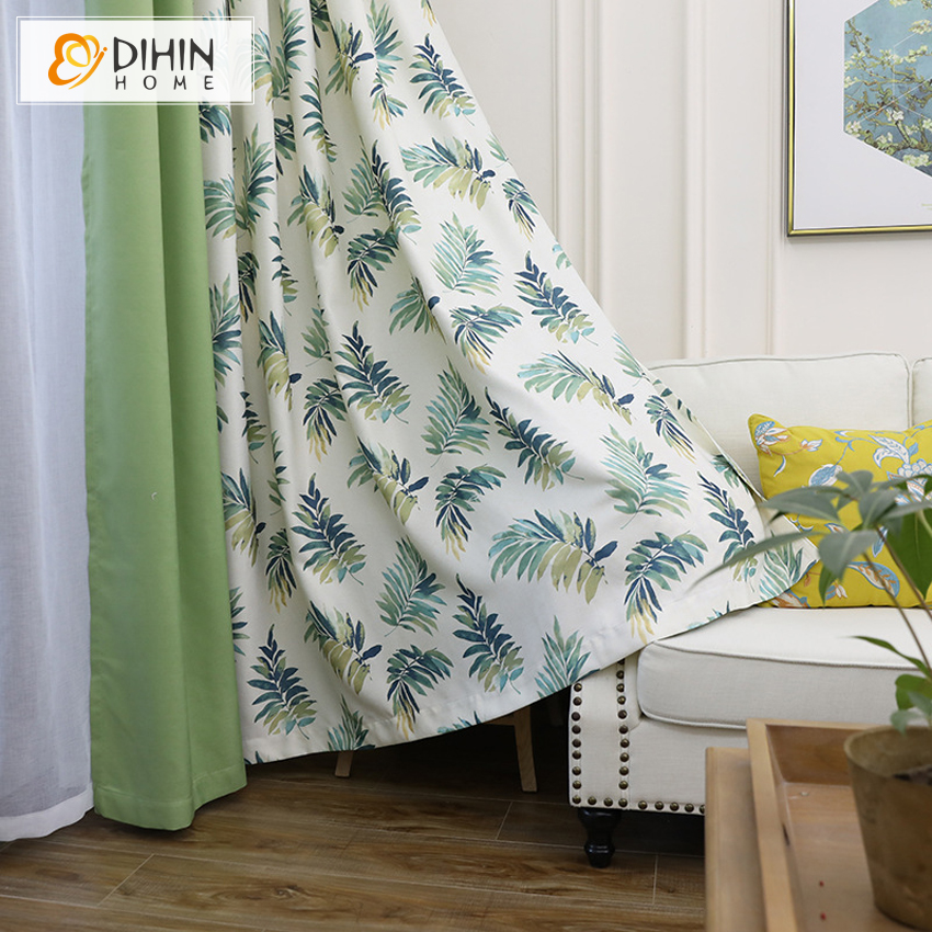 High Window Curtains: DIHINHOME New High Quality Tropical Style Blackout