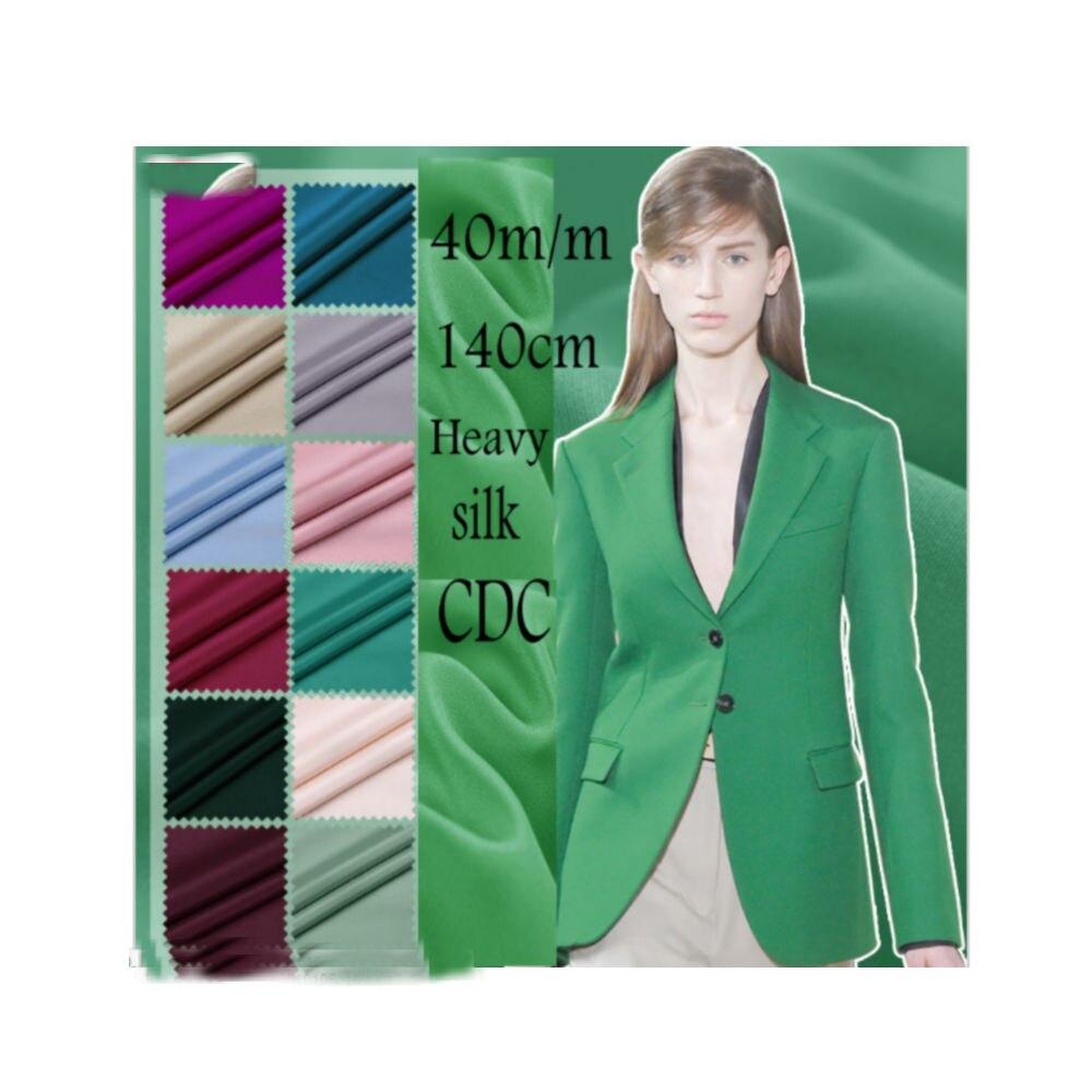 40M M width140cm Muticolor Heavy Silk Crepe De Chine Fabric Silk CDC For High Quality Silk