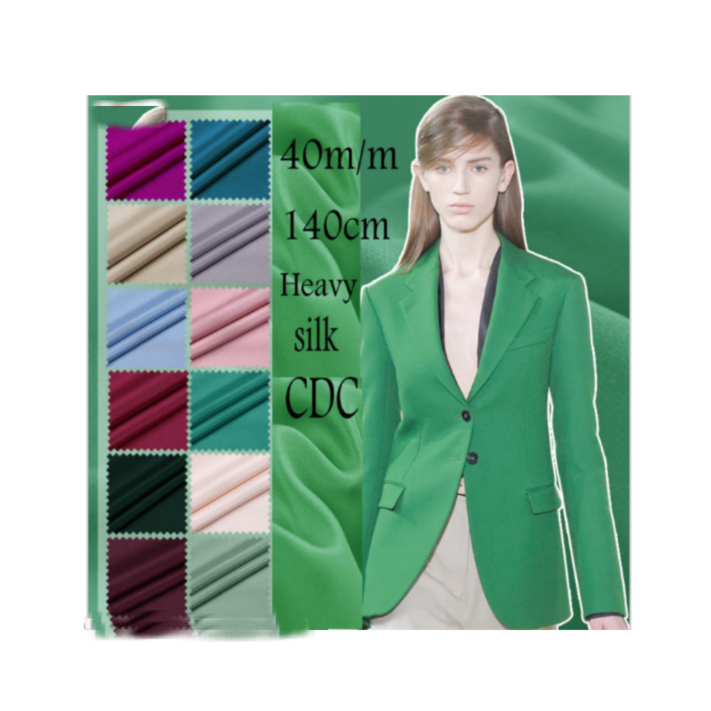 40 M/M width140cm multicolore soie crêpe De Chine tissu soie CDC pour robe en soie De haute qualité H1CDC8