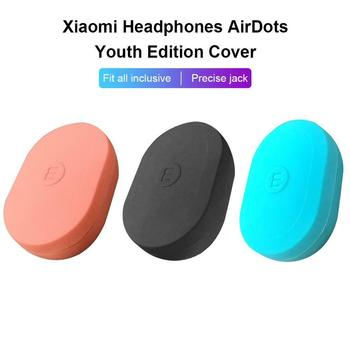 Silicone Case Cover For Xiaomi MI AirDots Youth Version Wireless Bluetooth Earphone TWS Charging Case Soft TPU Shell Funda image