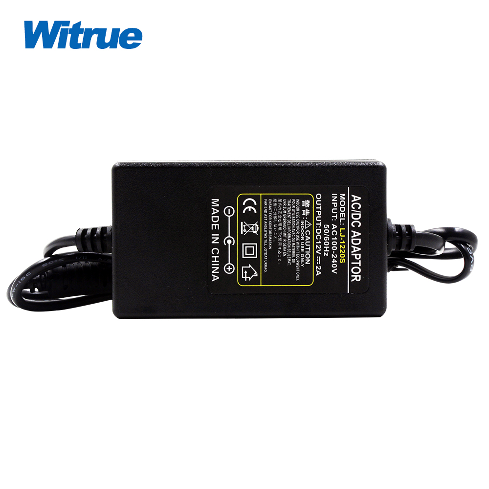 Witrue  AC100-240V to DC 12V 2A Power Adapter  for CCTV Cameras With Noise Reduction Function 4pcs 12v 1a cctv system power dc switch power supply adapter for cctv system