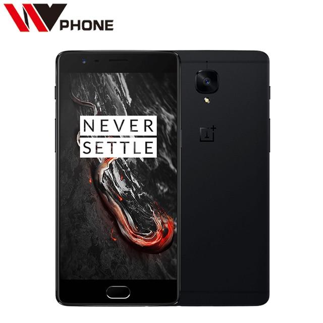 "Оригинал oneplus 3 t a3010 lte 4 г мобильный телефон snapdragon 821 5.5 ""Android 6.0 6 Г ОЗУ 64/128 Г ROM 16MP Отпечатков Пальцев ID NFC"