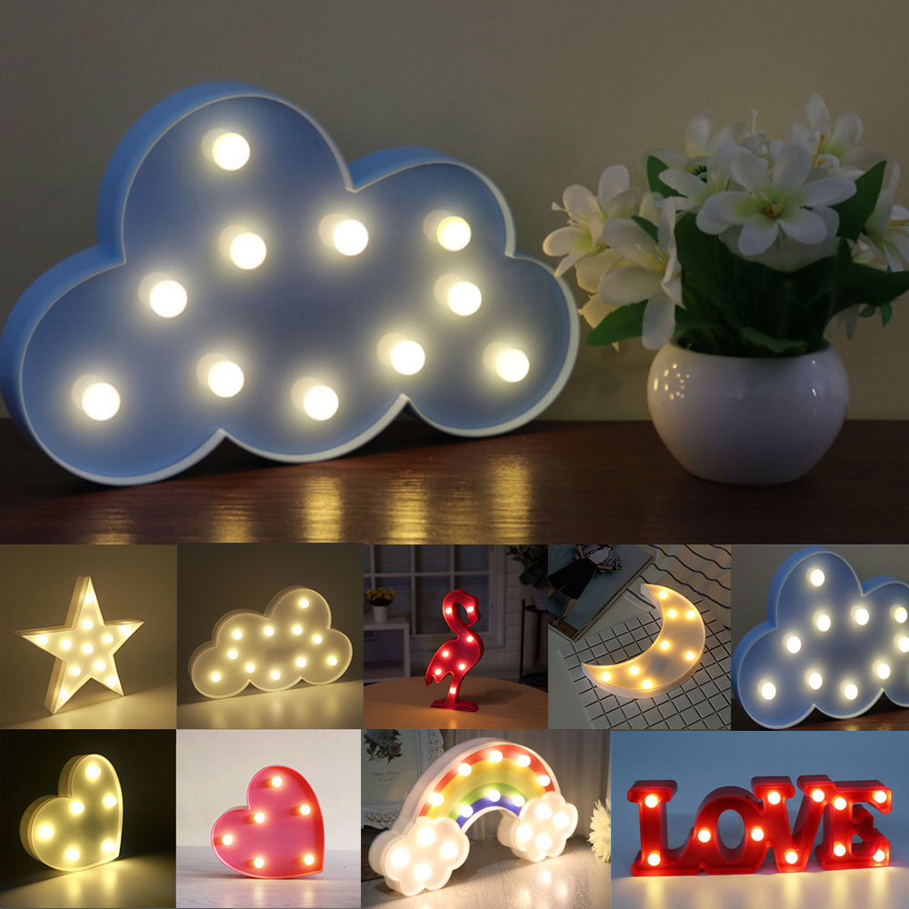 LED Night Light Cute Animal Shape Night Lamp Warm White Holiday Decoration LED Light For Home Bedroom Living Room Baby Room lediary cute dinosaur led night light 3 colors decoration lamp warm white christmas night lights animal bedside lamp for kids