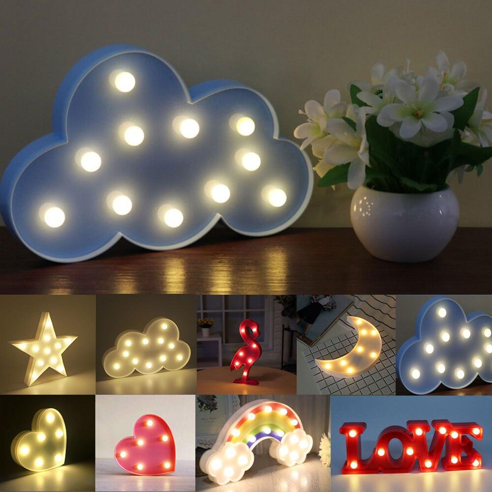 цена на LED Night Light Cute Animal Shape Night Lamp Warm White Holiday Decoration LED Light For Home Bedroom Living Room Baby Room