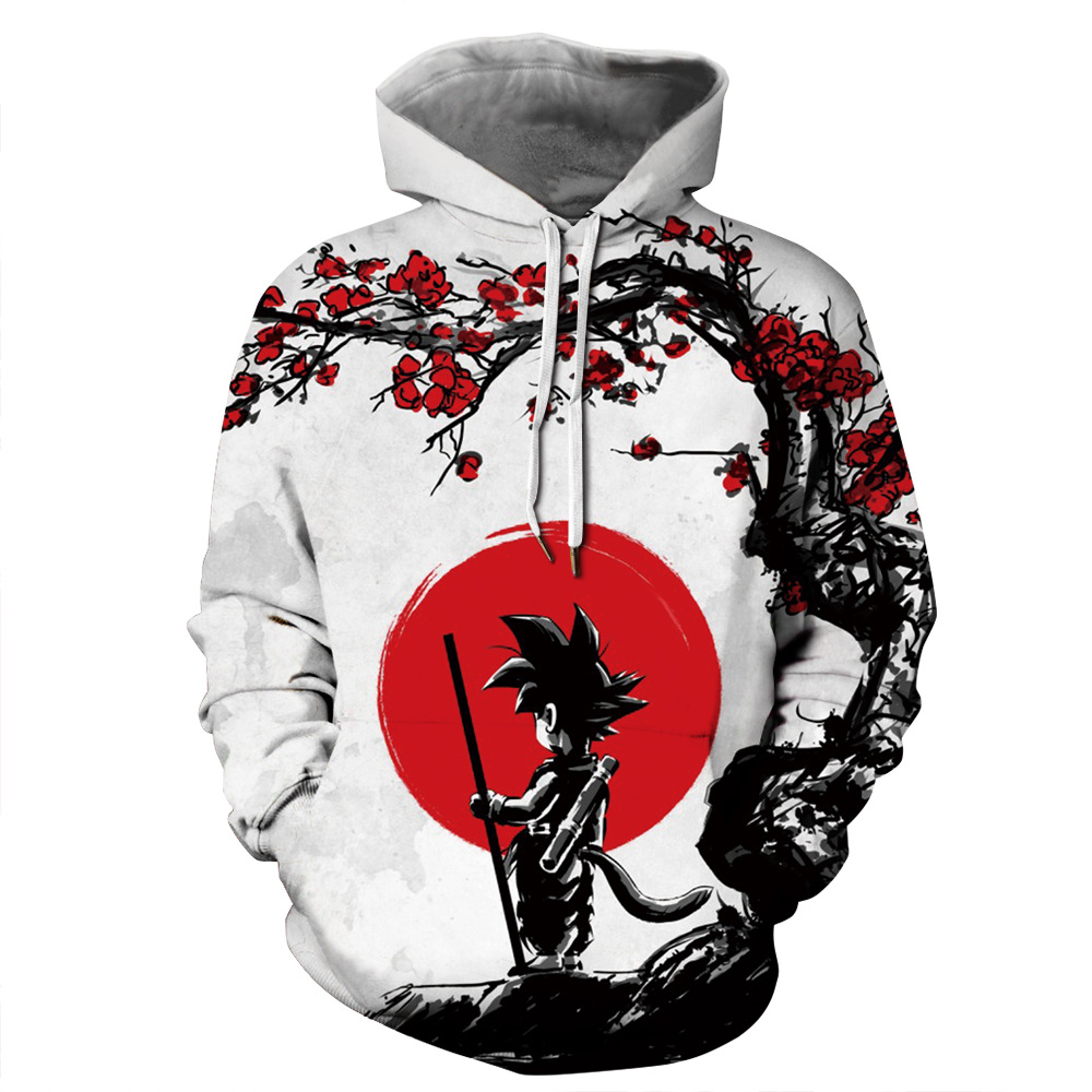 2019 Hot Fashion Men/Women 3 Print Dragon Ball Hooded Hoodies Unisex Tops Wholesale And Retail Casual Hoodies