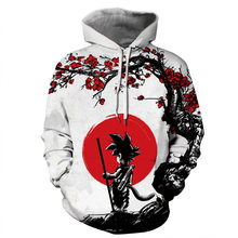 2019 Hot Fashion Men/Women 3D Sweatshirts Print Dragon Ball Hooded Hoodies Unisex Tops Wholesale and retail Casual Hoodies(China)