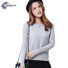 Winter Women Sweater 2017 New Autumn Sweater Student Knitting Pullover O- Neck Long sleeve Casual Sweater Women clothing FS893