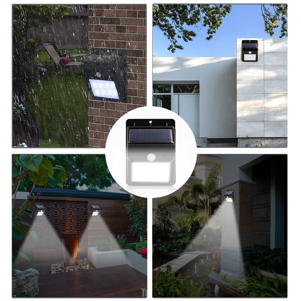 Lâmpadas Solares lâmpadas luminaria energia solar 8 Features : Waterproof