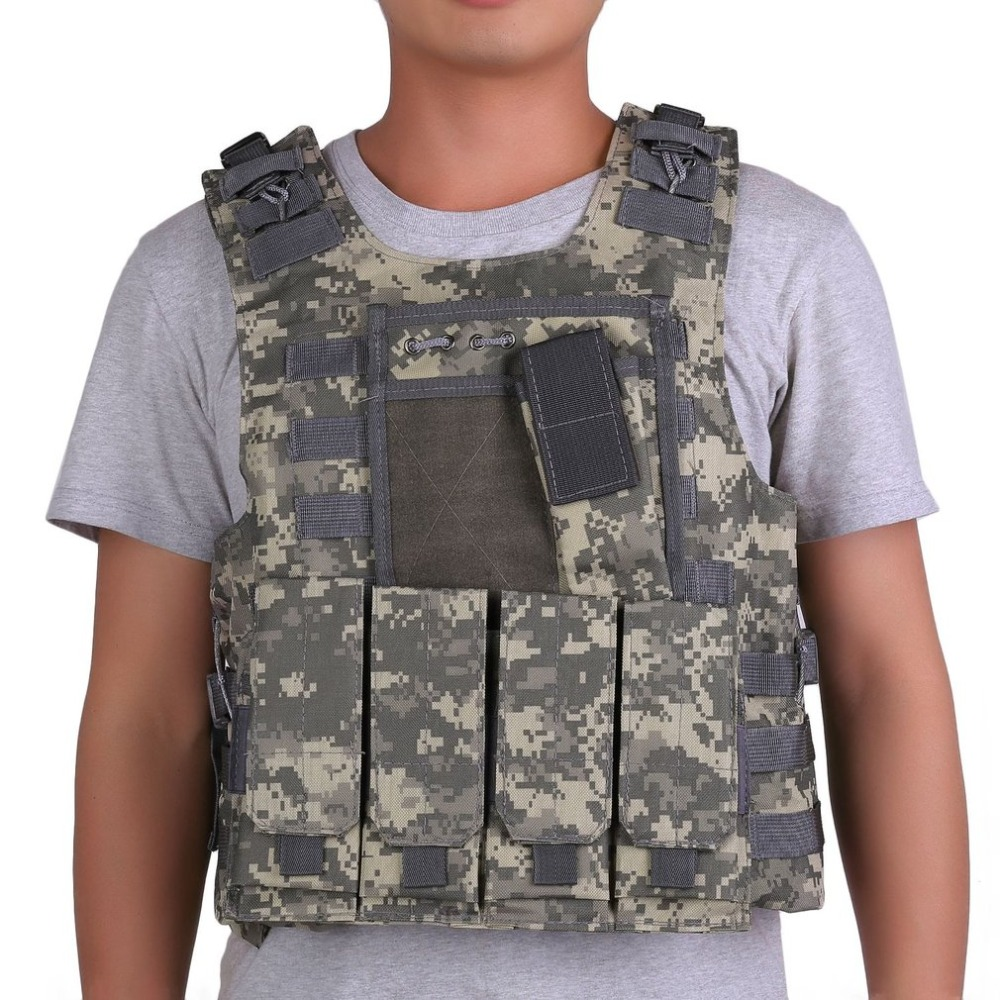 Army Fans Men Tactical Military Hunting Molle Combat Assault Carrier Vest Adjustable Strap Top Outdoor Game Jungle Equipment