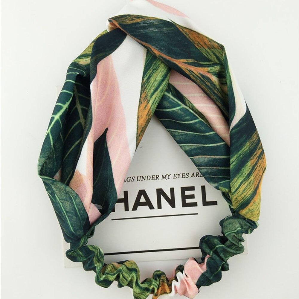 2020 New Bohemian Style Hairbands Cross Knot Turban Elastic Headband Printed Bandanas   Headwear   Hair Accessories For Women Girls