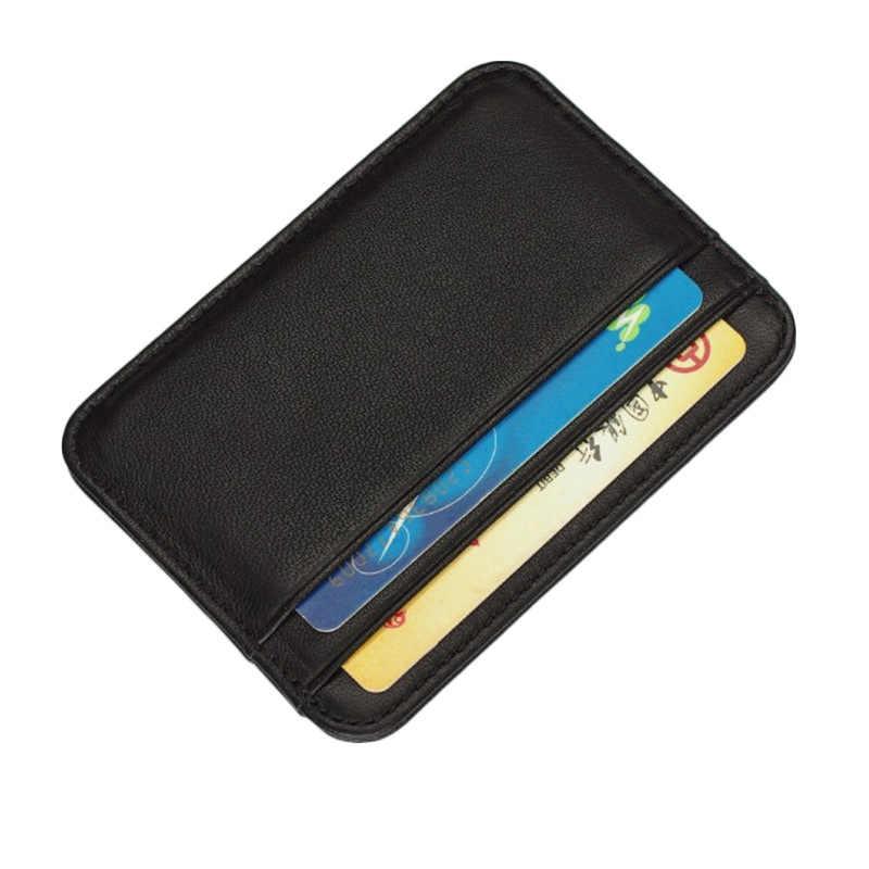 ของแท้หนังบัตรเครดิต id ธุรกิจผู้ถือบัตรเครดิตกรณีผู้ถือบัตร rfid กระเป๋าสตางค์ผู้ชาย porte carte
