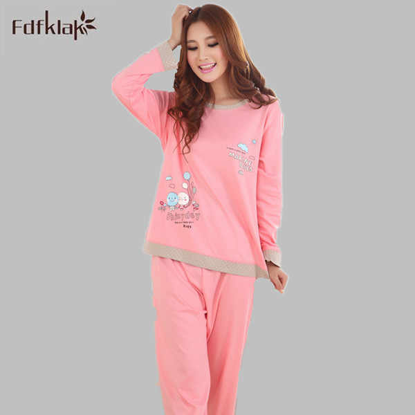 2XL 3XL плюс Размеры зима Для женщин пижамы мультфильм Для женщин с длинным  рукавом Повседневное Pijamas c0932d65b796a