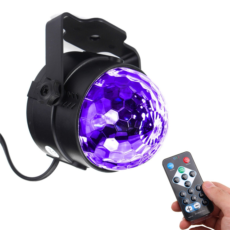Newest 3W UV Purple LED Stage Lighting Effect Self-propelled/Voice-activated/Flashing Crystal Magic Ball Light Party Disco Club rg mini 3 lens 24 patterns led laser projector stage lighting effect 3w blue for dj disco party club laser