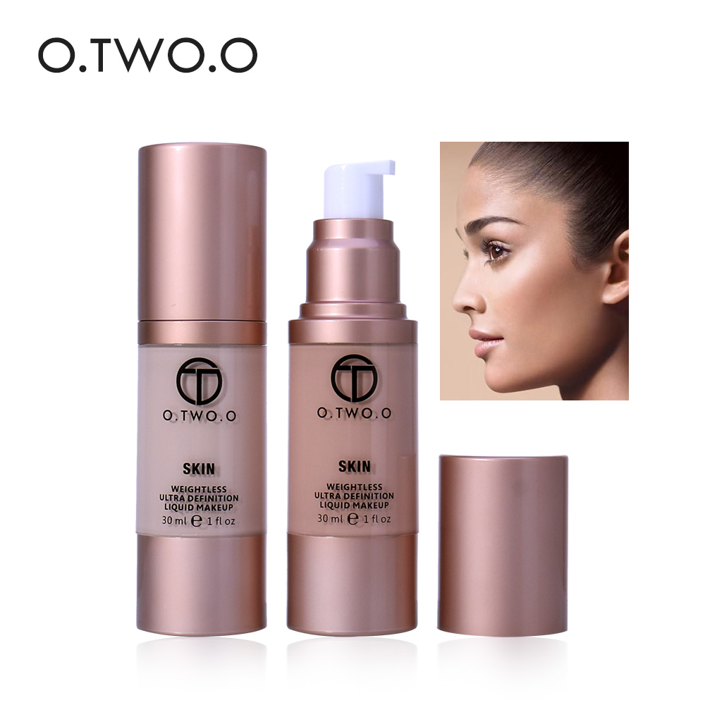 цена на O.TWO.O Make Up Liquid Foundation Cream Face Base Invisible Full Coverage Concealer Whitening Moisturizer Waterproof 30ml