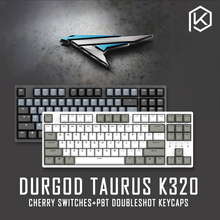 Durgod 87 מזל שור k320 מכאני מקלדת באמצעות דובדבן mx מתגים pbt doubleshot keycaps חום כחול שחור אדום כסף מתג