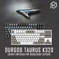 Durgod 87 taurus k320 mechanische tastatur mit cherry mx schalter pbt doubleshot tastenkappen braun blau schwarz rot silber schalter