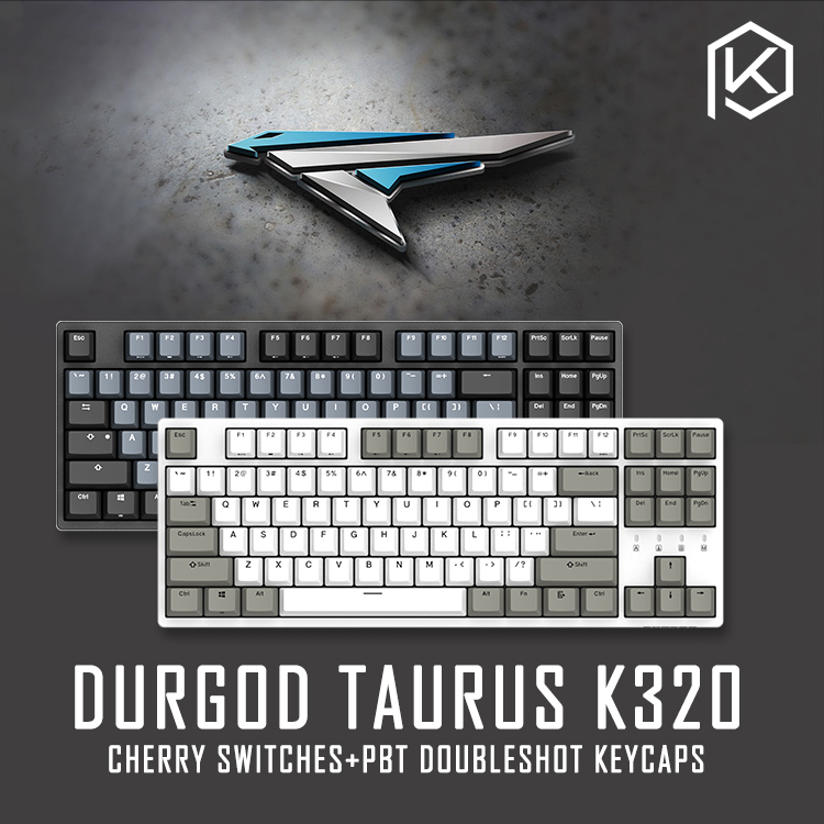 durgod 87 taurus k320 mechanical keyboard using cherry mx switches pbt doubleshot keycaps brown blue black red silver switch(China)
