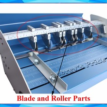 1Pc Perforating Cutting Creasing Blade and Under Roller of 18inch Blue 460mm Electric Perforator 3 Function Machine Cutter