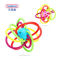 0 12 Months Baby Toy Baby Ball Toy Rattles Develop Baby Intelligence Baby Toys Plastic Hand