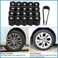 Carro - styling 17 * 30 mm preto 20 pçs/set veículos Auto porca da roda de carro parafuso tampa Cap para VAUXHALL carros