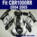 Custom Road Injection fairing kits for Honda 2004 2005 CBR1000RR CBR 1000 RR 04 05 CBR 1000RR silver repsol fairings body parts