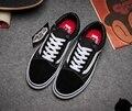 Furgonetas clásico old skool pro calle unisex low top zapatos de lona para los hombres y de las mujeres os zapatillas de skate