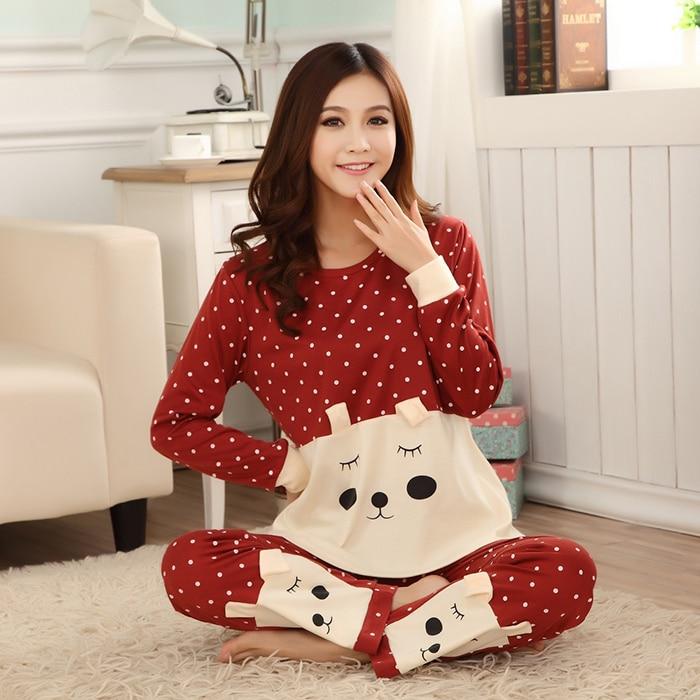 lover pajamas christmas gift m to xxl pajamas for womens nightgown sleepwear winter pyjama women pyjamas cotton free shipping in pajama sets from womens - Christmas Pajamas Women