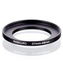 Oryginalny RISE (UK) 37mm 49mm 37 49mm 37 do 49 pierścień redukcyjny adapter do filtra czarny