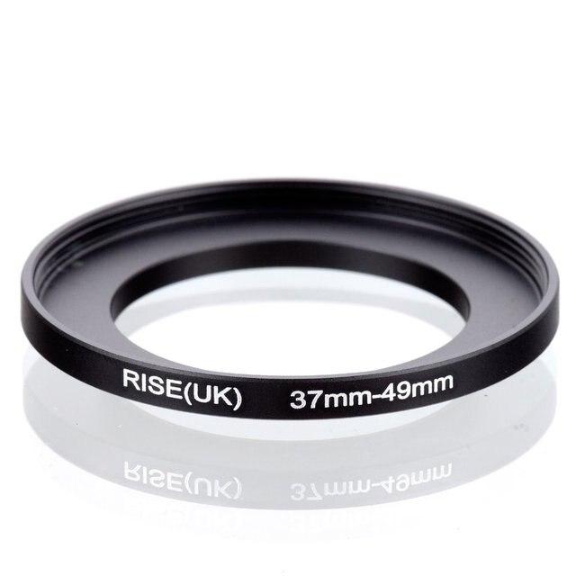 オリジナル RISE (英国) 37 ミリメートル 49 ミリメートル 37 49 ミリメートル 49 ステップアップリングフィルターアダプターに 37 黒
