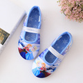 40% New style 1pairs Children girl's spring printed Elsa&Anna girl cartoon princess shoes Home Shoes soft  Bottom