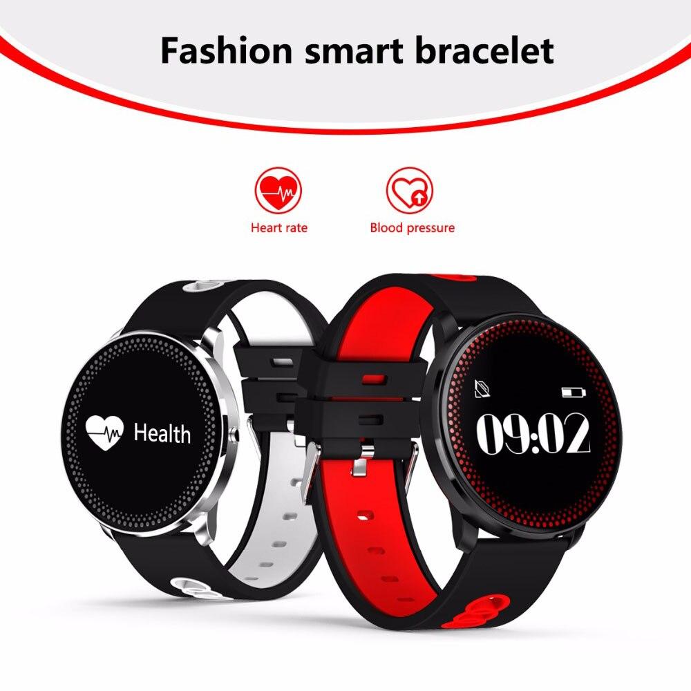 F09 Braccialetto Intelligente di Frequenza Cardiaca Monitor di Pressione Sanguigna del Monitor SMS di Notifica Intelligente Banda Sport Tracker per il iphone 7 Plus 6 s Plus