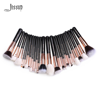Jessup Rose Gold Black Professional Makeup Brushes Set Make Up Brush Tools Kit Foundation Powder Blushes