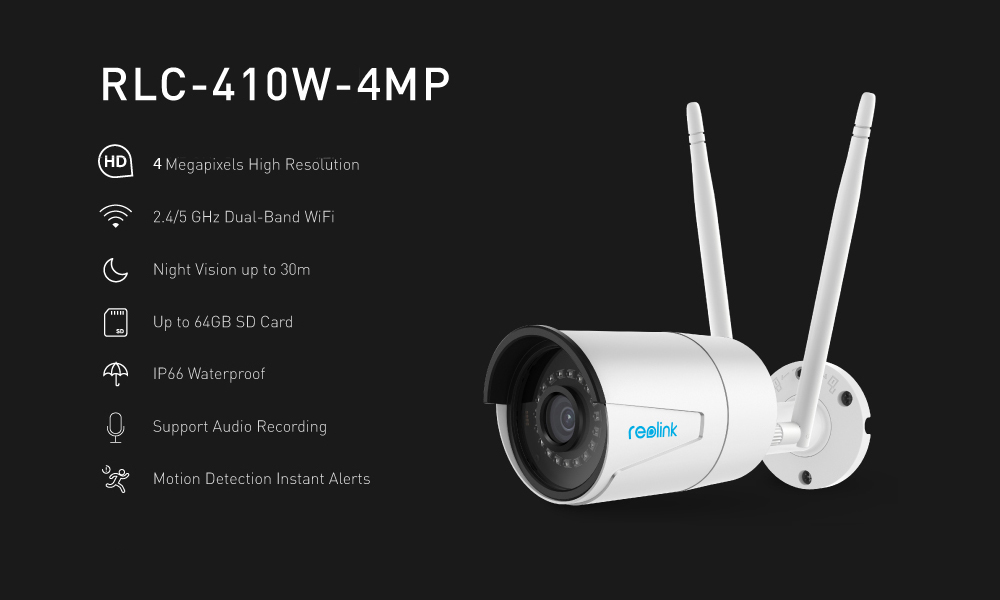 HTB1wn2cbcrrK1RjSspaq6AREXXa8 Reolink 4MP wifi camera outdoor 2.4G/5G HD IP Cam Wireless Weatherproof Security Night Vision Camera RLC-410W